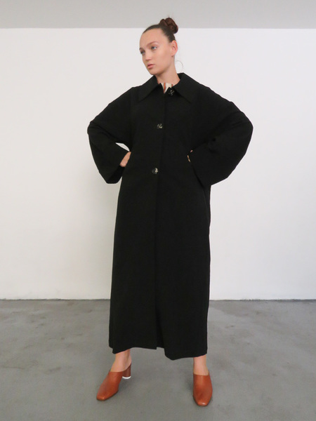 SAMUJI BUNKO COAT - BLACK