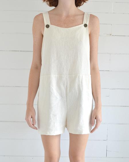 Erin Templeton Linen Overall Shorts