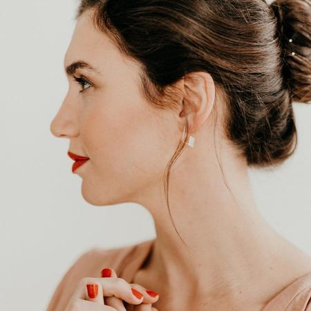 Favor Cubic Hoop Earrings - GOLD