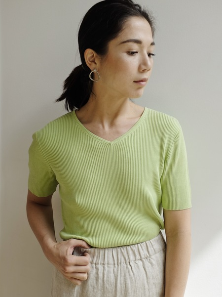 Hey Jude Vintage Lime Silk Knit Tee