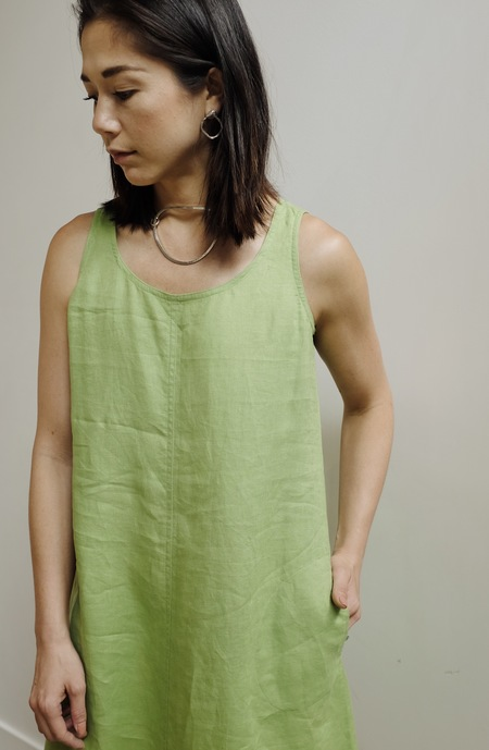 8a96a96df3 Hey Jude Vintage Lime Linen Easy Dress ...