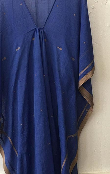 Two Jamdani Caftan - blue