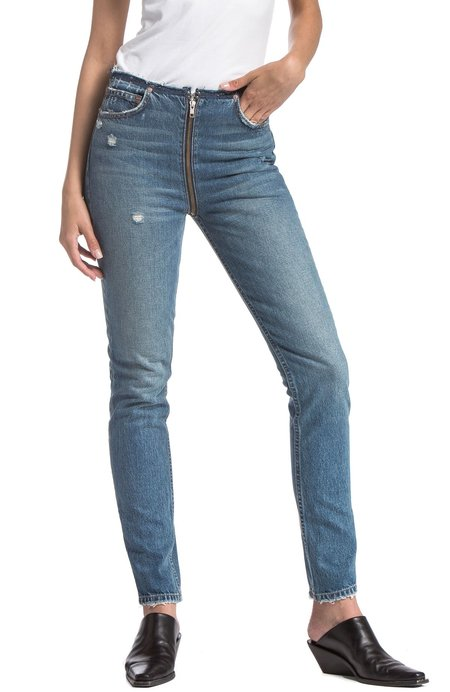HER by BOYISH Colby High Rise Full Zip Jean - LADY OF BURLESQUE