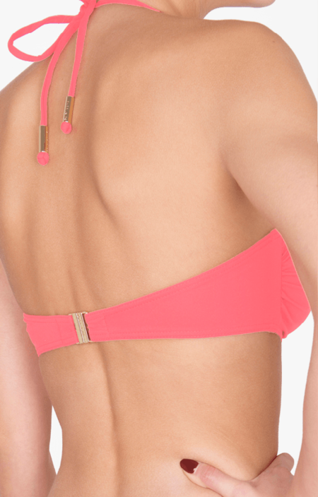 Shan Bandeau with Removable Strap Bikini Top - Pink