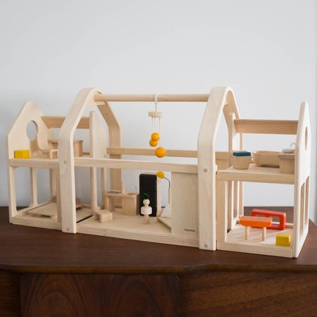 Kids Plan Toys Slide and Go Wooden Dollhouse