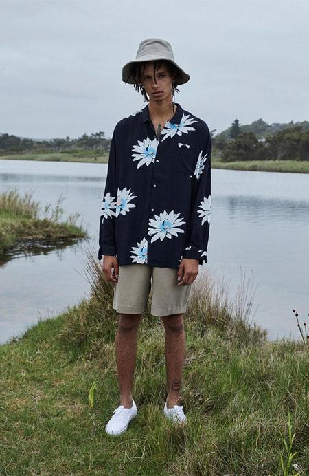 Unisex Double Rainbouu Long Sleeve Hawaiian Shirt - Glossy Possy