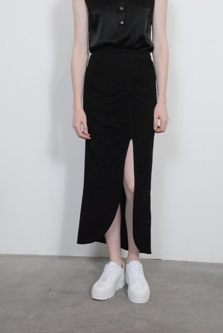 Raquel Allegra Slit Skirt - Black