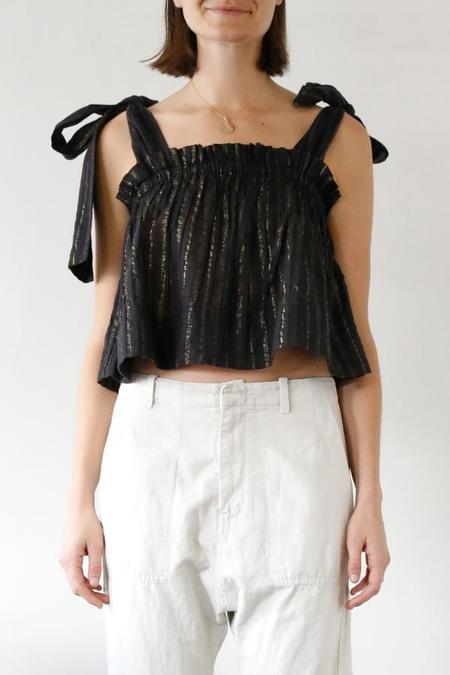 Laurence Bras Jasmine Top with Ties - BLACK