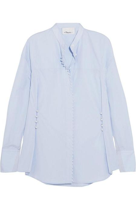 3.1 Phillip Lim Pearl Button Down Shirt - OXFORD BLUE