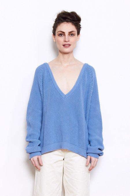 Baserange Danube V Neck Pullover - Everest Blue