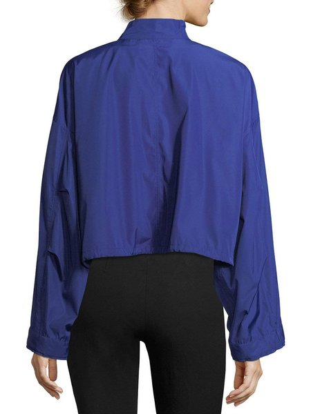 3.1 Phillip Lim Technical Zip-Front Cropped Anorak Jacket - ELECTRIC BLUE