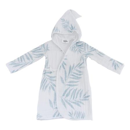 KIDS Moutmout Paris Pepin Muslin Bathrobe - Palm Print