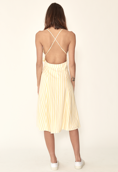Capulet Simona Wrap Dress - Yellow Stripes