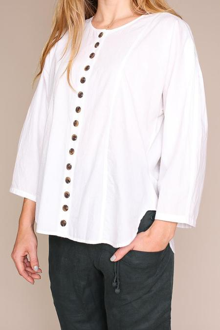 Apiece Apart Nadiya Button Down Top - Optic White