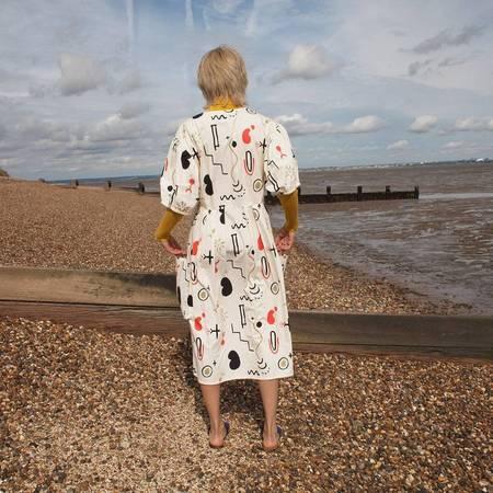 LF Markey Miro Print Dress - OFF WHITE