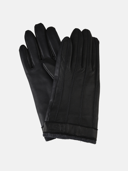 UGG MEN ACC Whip Stitch/Knit Trim Smart Glove - BLACK