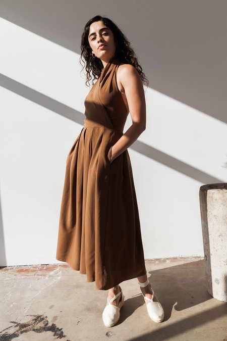 OR Halter Dress - Caramel Tencel
