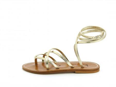 K JACQUES ST TROPEZ  Zenobie sandal - Metyl Champan Leather