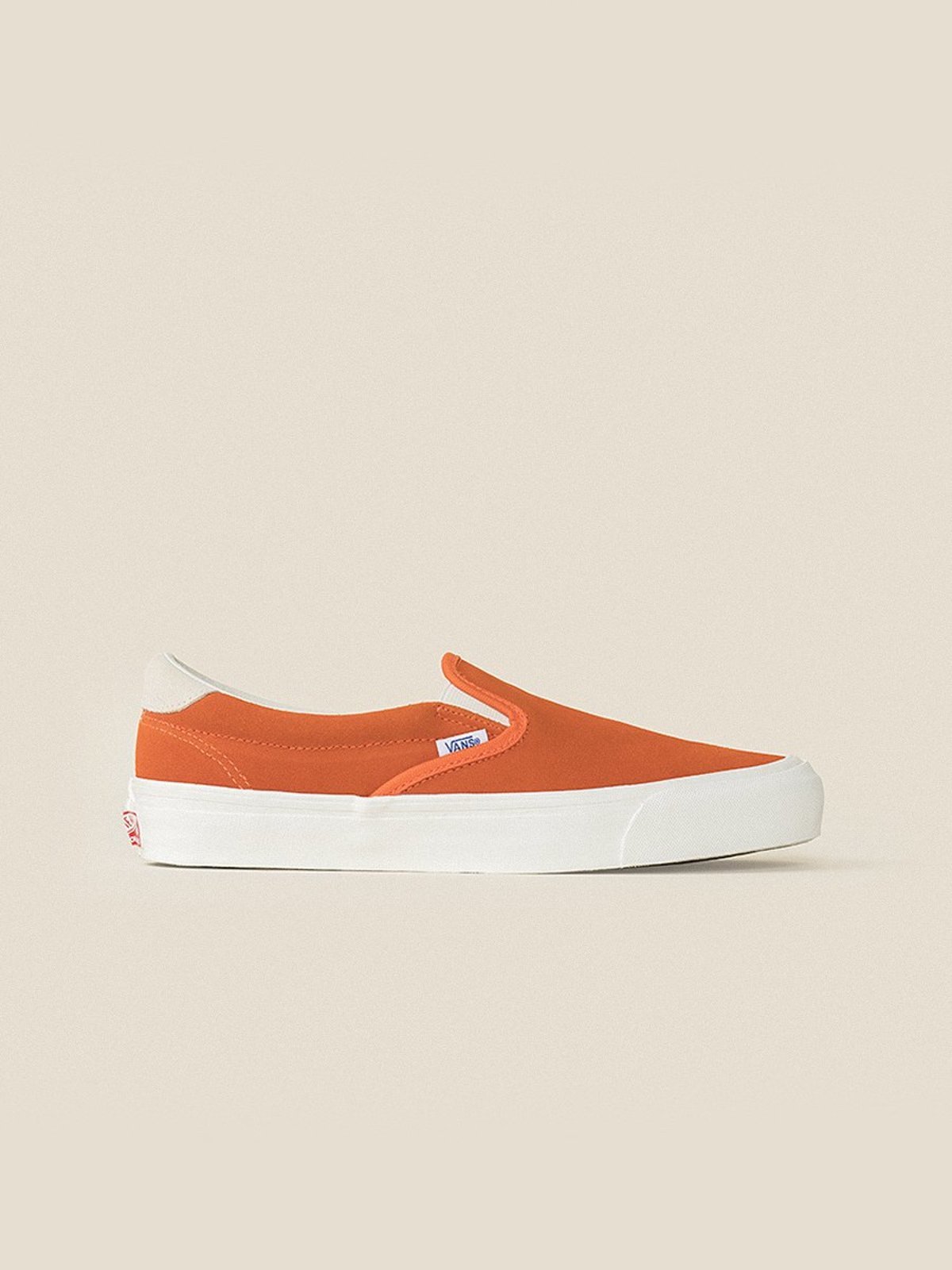 VANS VAULT OG Slip-On 59 LX (Suede) Red Orange Marshmallow  27ce0030e