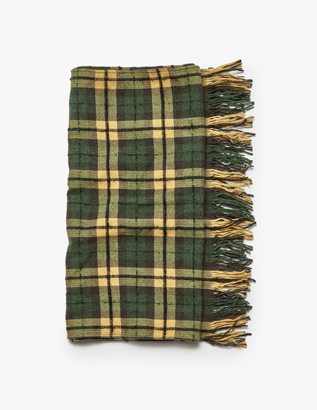Our Legacy Boucle Check Scarf - Citron/Grass