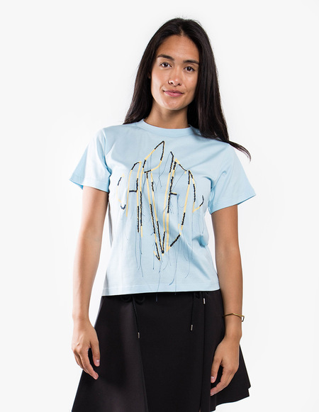 Carven Distressed Tee - Blue Sky