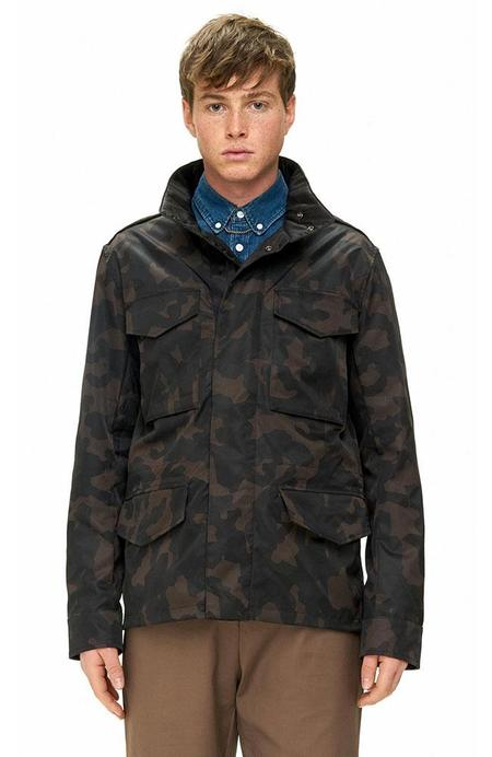 THE VERY WARM Reversible M65 Jacket with Lining Art by Layer Cake - ARMY