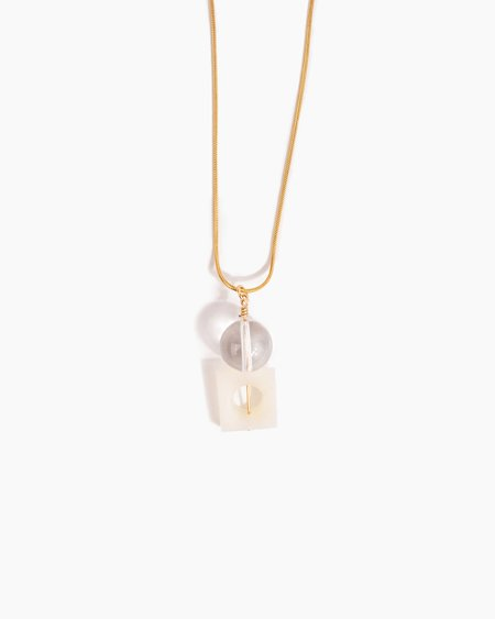 Poketo Highlow Quartz Stack Necklace