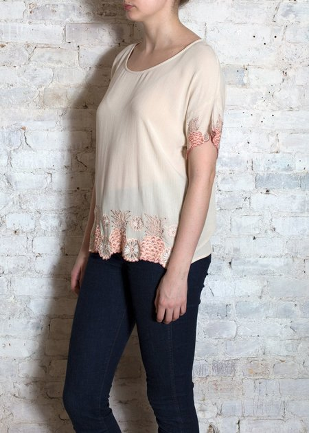 Louise Misha Blush Coco short sleeve Top