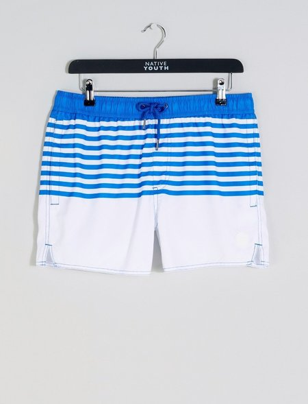 Native Youth Clacton Stripe Swim Short