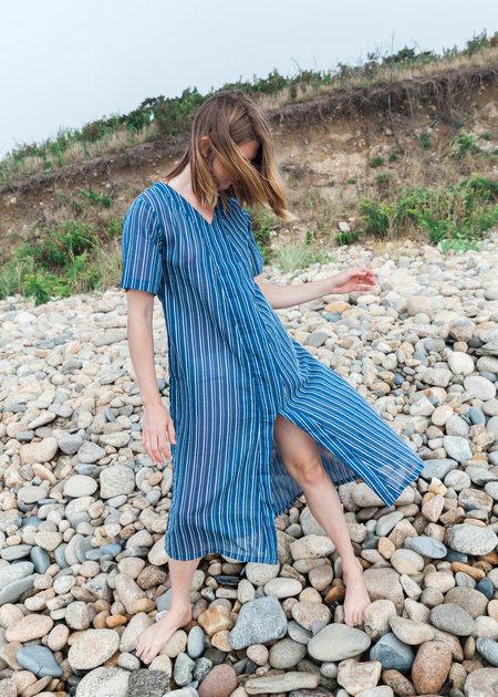 CONRADO Emma Cover Up Dress - Blue Stripe