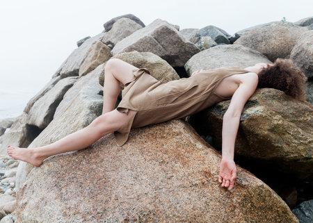 CONRADO Katrina Midi Dress - brown
