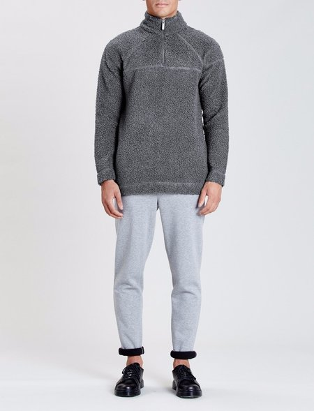 Native Youth Falcone Half Zip Sweatshirt - Charcoal
