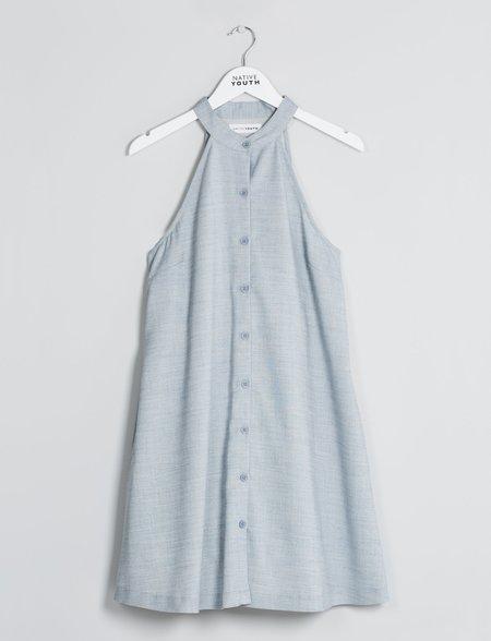 Native Youth Eutrophic Sun Dress - Light Blue