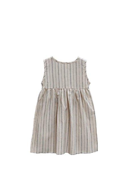 Kids Go Gently Nation Sleeveless Prairie Dress - Natural Stripe