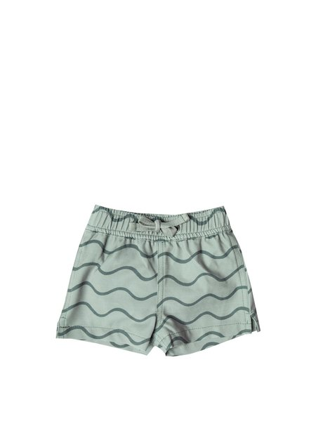 Kids Rylee and Cru Rolling Waves Swim Short - Seafoam