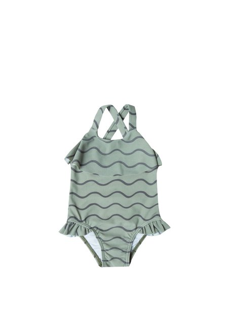 Kids Rylee and Cru Rolling Waves Swimsuit - Seafoam