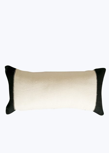 Khadi & Co. Small Cushion - Natural/Black