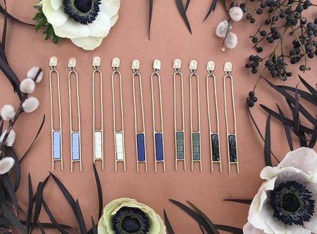Alchemilla Pillar Earrings - Bone