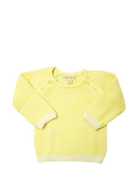 Kids La Petite Collection Buttoned Sweater - Yellow