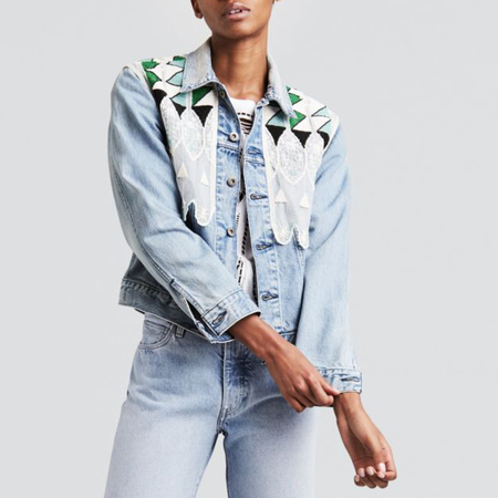 Levi's Made & Crafted Boyfriend Trucker - Tribal Embellishment