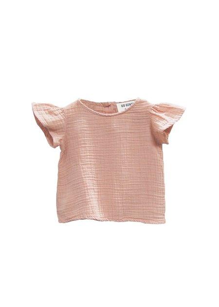 Kids Go Gently Nation Gauze Flutter Blouse - Desert Pink