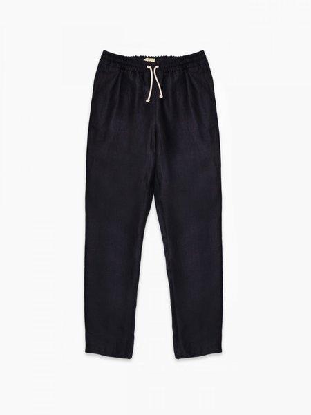 De Bonne Facture Relaxed Trousers - Navy