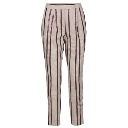 Day Birger et Mikkelsen Linen Smart Pant - Pink Stripe