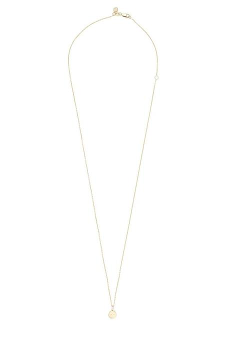 Sydney Evan Small Pure Happy Face Charm Necklace