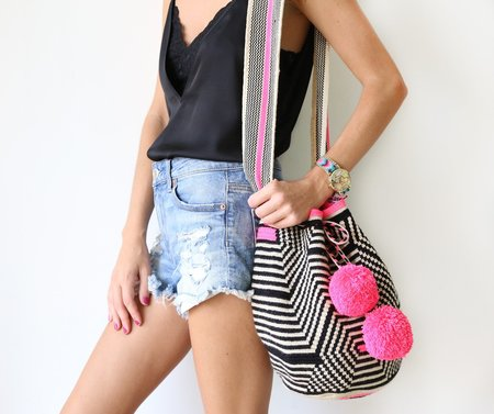 FOSTERIE Apuni Mochila Bag - Hot Pink