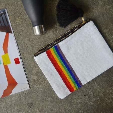 Meso Goods Beaded Pouch - Rainbow