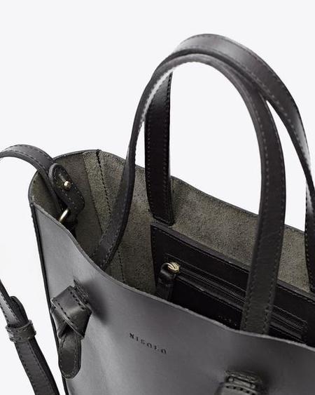 Nisolo Simone Leather Cross Body Shopper - Black