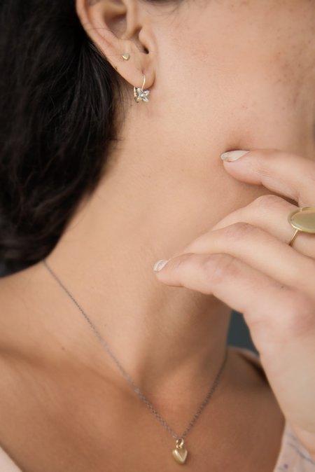 Melissa Easton Small Sweet Woodruff Leverbacks - 14K Gold/Sterling Silver