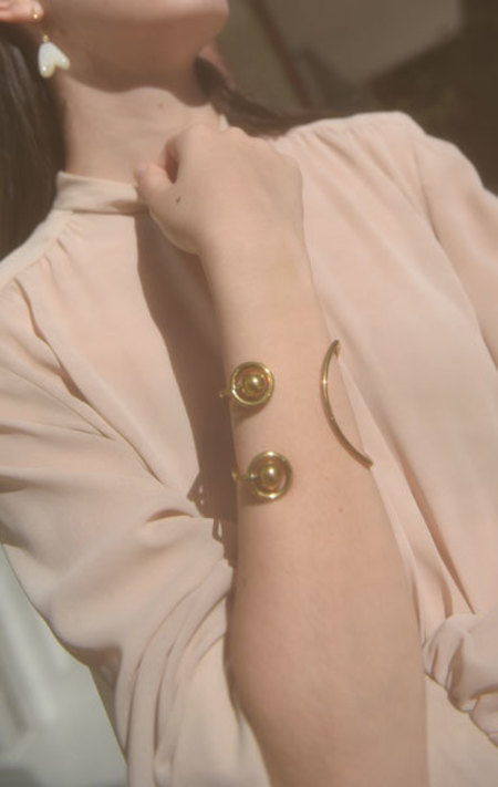 Piece A Conviction Mary Ping Overture Bangle - Brass