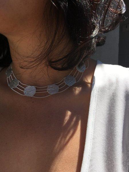 Hannah K Lace Collar - SILVER